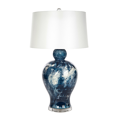 Marble Cove Blue and White One-Light Table Lamp