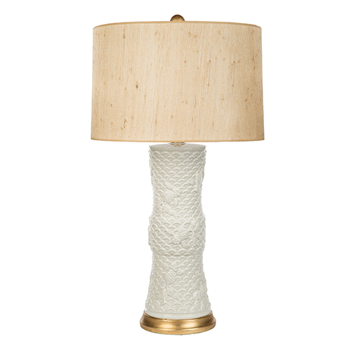 Genial Shenzen White Seagrass Cream One Light Table Lamp