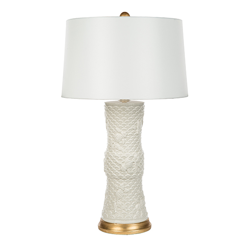 Bradburn Gallery Shenzen White Cream One-Light Table Lamp