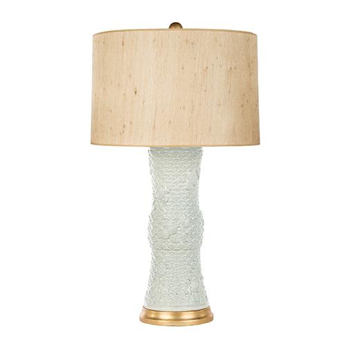 Bradburn Gallery Shenzen Blue Seagrass Celedon One-Light Table Lamp