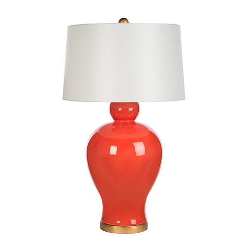 Tangerine Zuma Tangerine and Gold One-Light Table Lamp