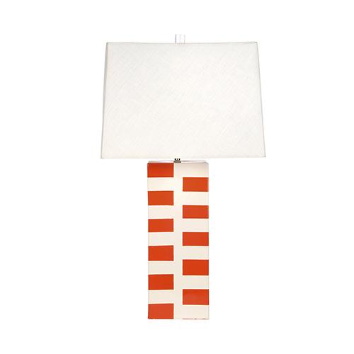 Tangerine Winston Tangerine and Cream One-Light Table Lamp