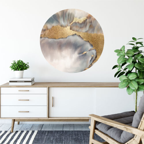 Stream of Gold 30 x 30 Inch Circle Wall Decal