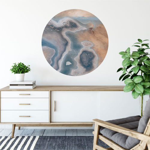 Sand and Stone I 30 x 30 Inch Circle Wall Decal