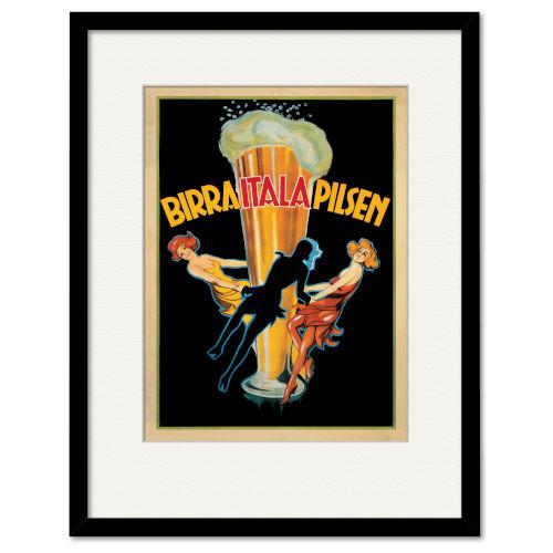 Multicolor Birra Itala Pilsen 1920 Ca Framed Wall Art