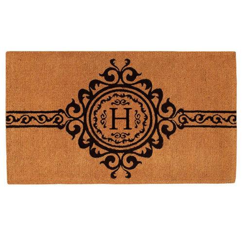 Garbo 3 Ft. x 6 Ft. Letter H Monogram Doormat