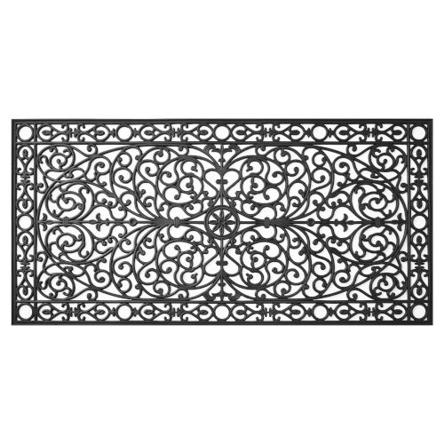 Gatsby Black 36 x 72 Inch Doormat