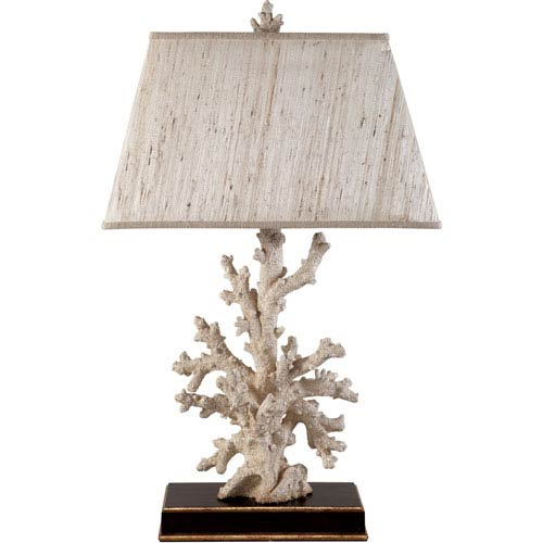 Carribbean Cream and Gold 31-Inch Coral Table Lamp