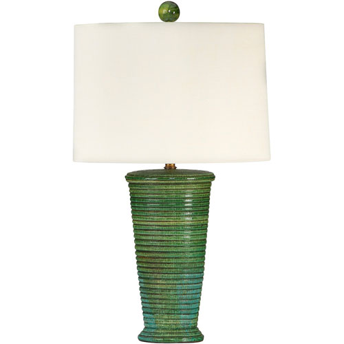 Green Textured Glaze One Light Grants Pass Lamp