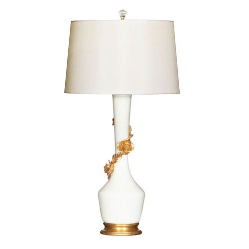 Avril Rose Blanc Ceramic Table Lamp