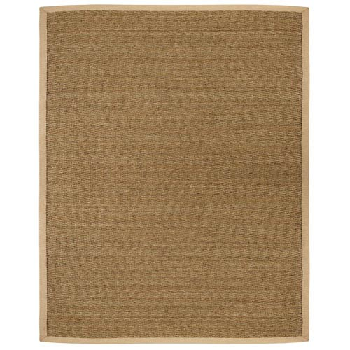 Anji Mountain Bamboo Rugs Saddleback Seagrass Rectangular: 5 Ft. x 8 Ft. Rug