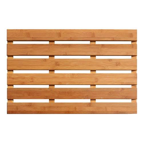 Bamboo Rectangular: 1 Ft 4 In x 2 Ft Bath Mat