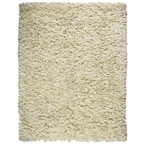 Creme Paper Shag Rectangular: 5 Ft. x 8 Ft. Rug