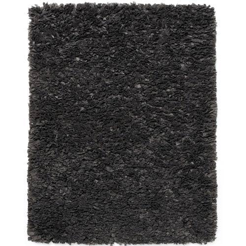 Gray Paper Shag Rectangular: 3 Ft. x 5 Ft. Area Rug
