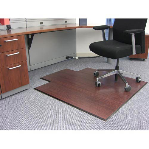 Anji Mountain Bamboo Rugs Dark Cherry Bamboo Tri Fold Office Chair