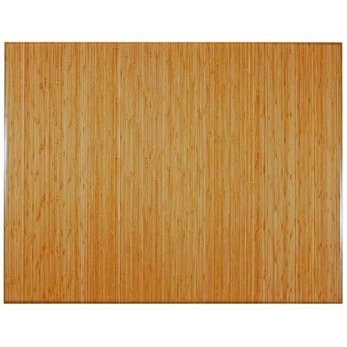 47 x 60 Natural Bamboo Tri-Fold Office Chair Mat