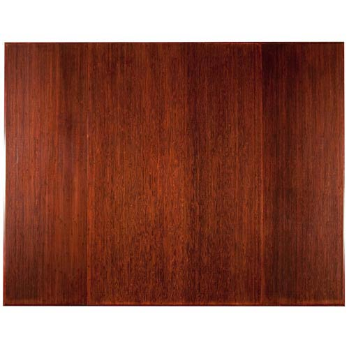 47 x 60 Dark Cherry Bamboo Tri-Fold Office Chair Mat