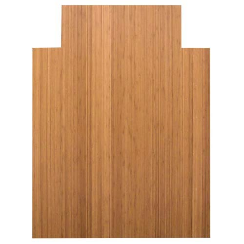 36 x 48 Natural Bamboo Roll-Up Office Chair Mat