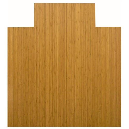 44 x 52 4-Inch Slat Natural Bamboo Roll-Up Chair Mat