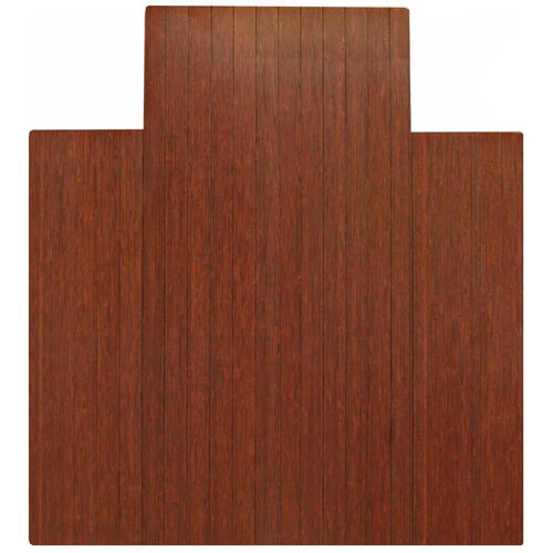 44 X 52 4 Inch Slat Dark Cherry Bamboo Roll Up Chair Mat