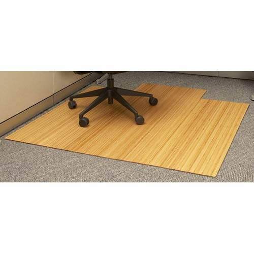 Natural Bamboo Roll Up Office Chair Mat