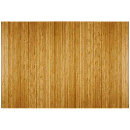 Natural Bamboo 4-Inch Slat 48 x 72 Roll-Up Chair Mat