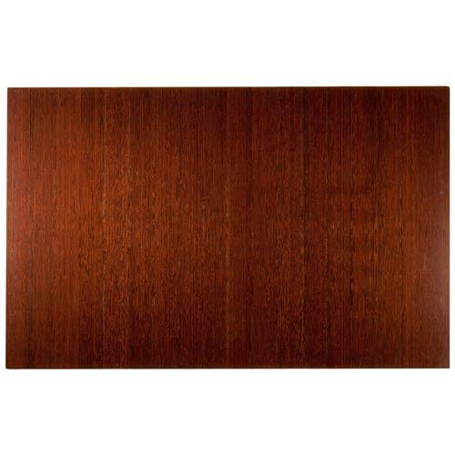 Anji Mountain Bamboo Rugs Dark Cherry Bamboo 4-Inch Slat 48 x 72 Roll-Up Chair Mat