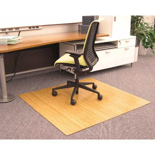 Anji Mountain Bamboo Rugs 48 X 42 Natural Bamboo Roll Up Chair Mat  259AMB24034_1