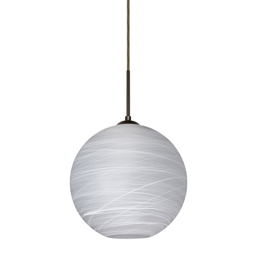 Coco Bronze One-Light Pendant With Cocoon Glass