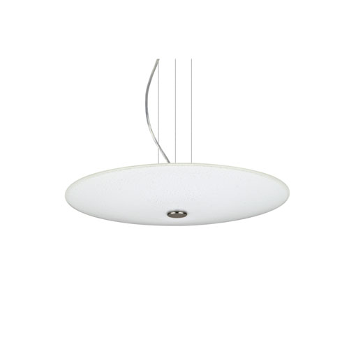 Renfro Satin Nickel One-Light LED Pendant With White Sparkle Glass