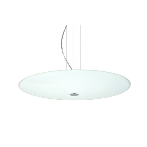 Renfro Satin Nickel One-Light LED Pendant With Opal Glossy Glass