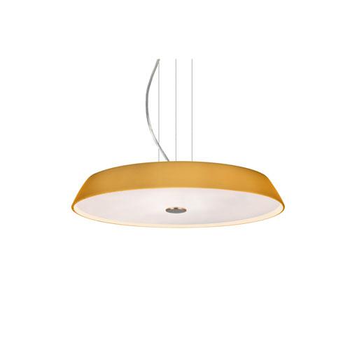 Sophi Satin Nickel One-Light LED Pendant With Amber Matte Glass