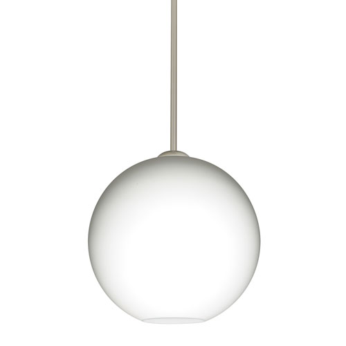 Coco Satin Nickel One-Light Pendant With Opal Matte Glass