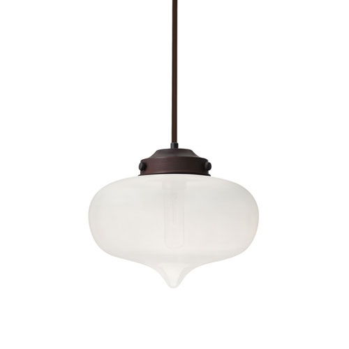 Mira Bronze One-Light Pendant With Frost Glass
