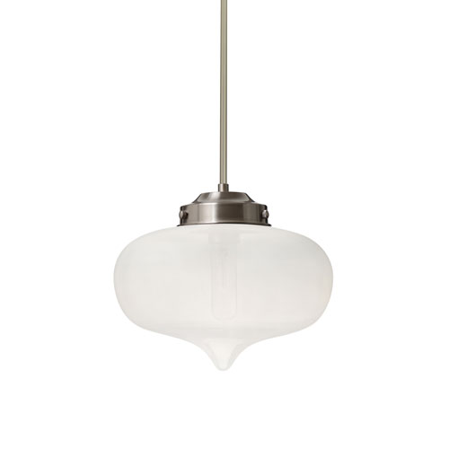Mira Satin Nickel One-Light Pendant With Frost Glass