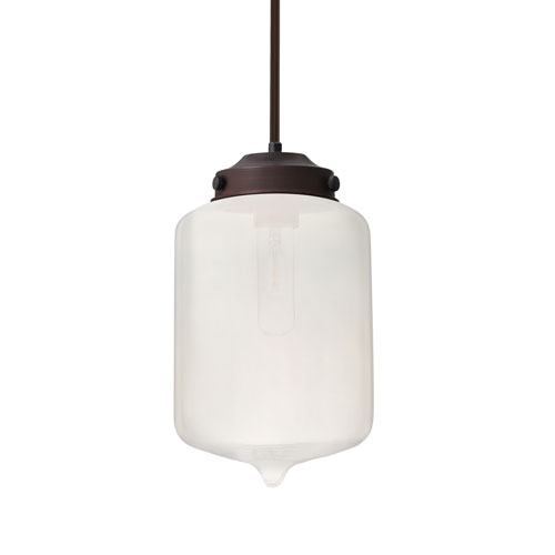 Olin Bronze One-Light Pendant With Frost Glass