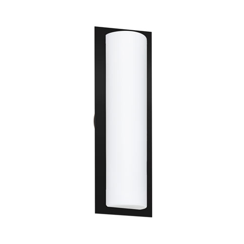 Barclay Black Two-Light Wall Sconce With Opal Matte Glass