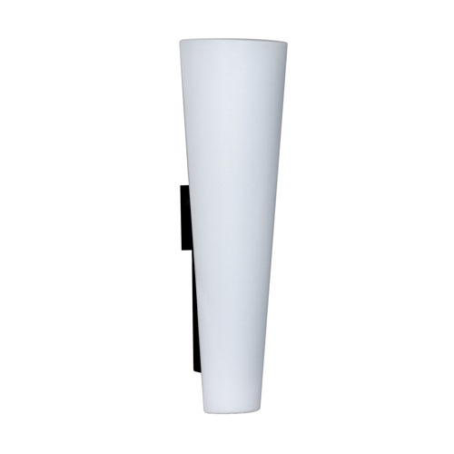 Tino Black Three-Light Wall Sconce With Opal Matte Glass
