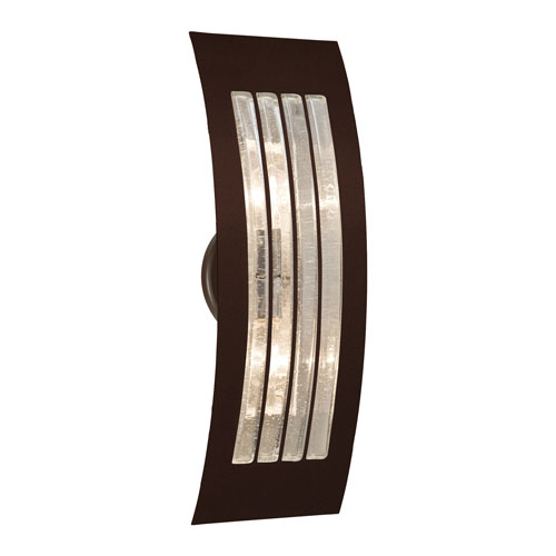 Sail Bronze Two-Light ADA Wall Sconce With Bubble Glass