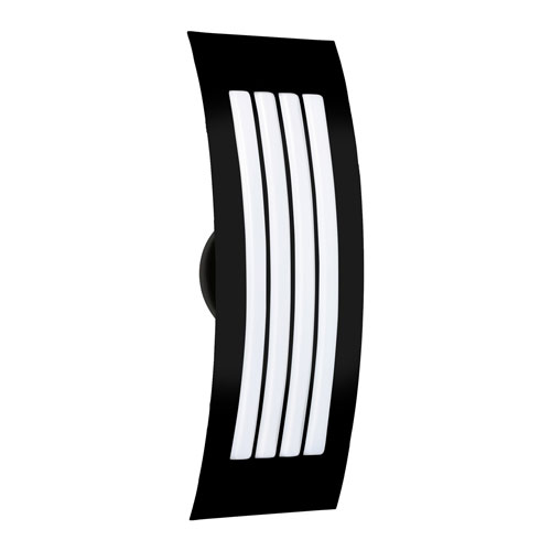 Sail Black Two-Light ADA Wall Sconce With Opal Matte Glass