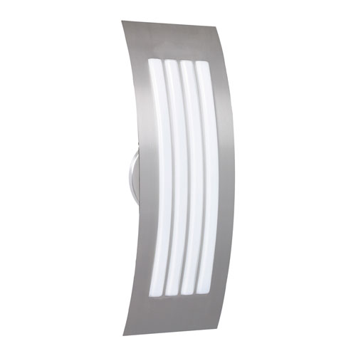 Sail Silver Two-Light ADA Wall Sconce With Opal Matte Glass