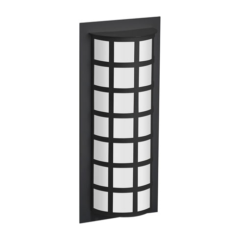Scala Black Two-Light LED Outdoor Sconce With Satin White Glass