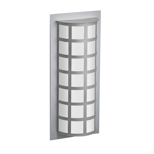 Scala Silver Two-Light Outdoor Sconce With Satin White Glass