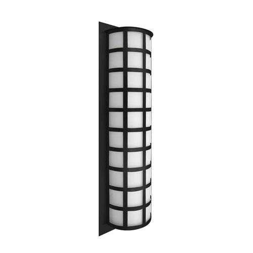 Scala Black Three-Light LED Outdoor Sconce