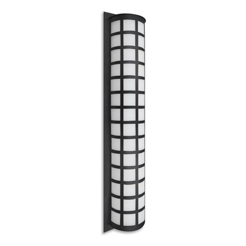 Scala Black Three-Light Outdoor Sconce