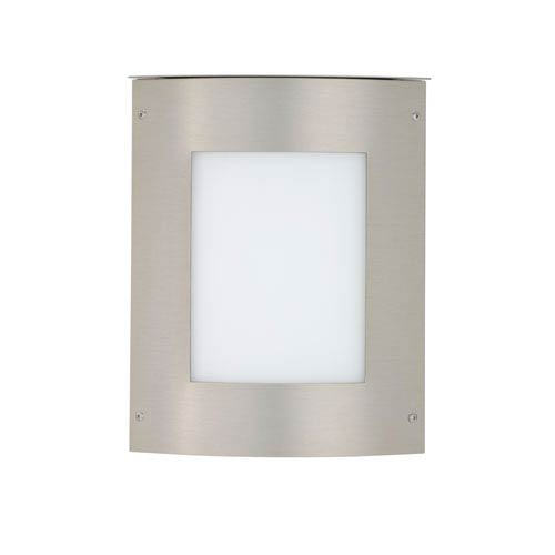 Besa Lighting Moto Brushed Aluminum One-Light Incandescent Wall Sconce with White Acrylic Shade