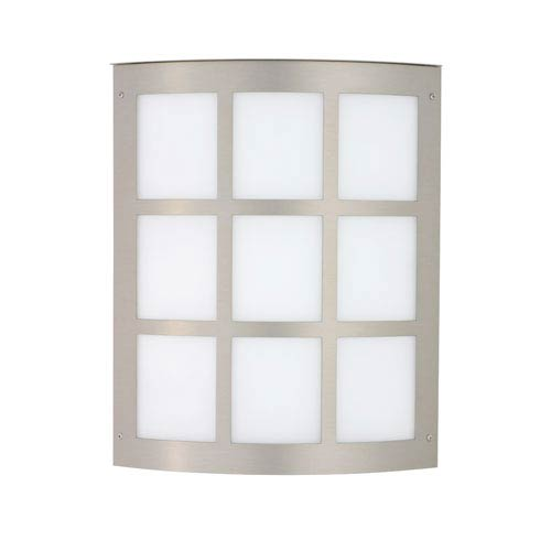 Besa Lighting Moto 13 Brushed Aluminum Two-Light Incandescent Wall Sconce with White Acrylic Shade