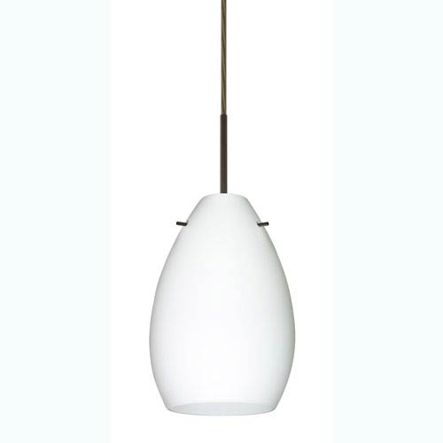 Pera 6 Bronze One-Light Mini Pendant with Opal Matte Glass