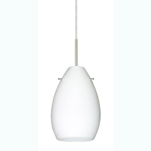 Pera 6 Satin Nickel One-Light Mini Pendant with Opal Matte Glass