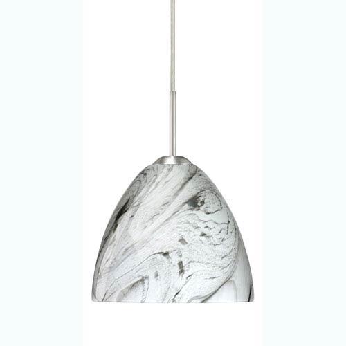 Besa Lighting Sasha II Marble Grigio Satin Nickel Mini Pendant